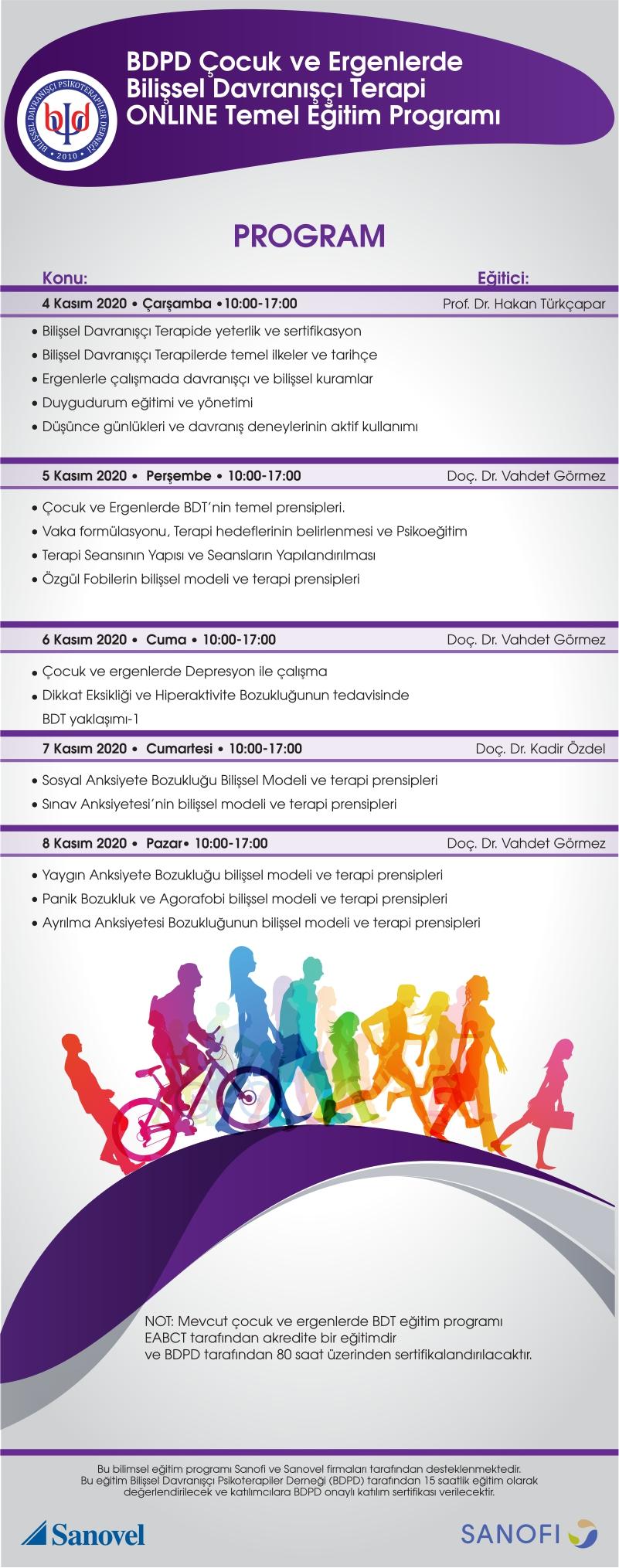 BDPD Çocuk ve Ergenlerde Bilişsel Davranışçı Terapi Temel Kuramsal Programı/Ocak 2021