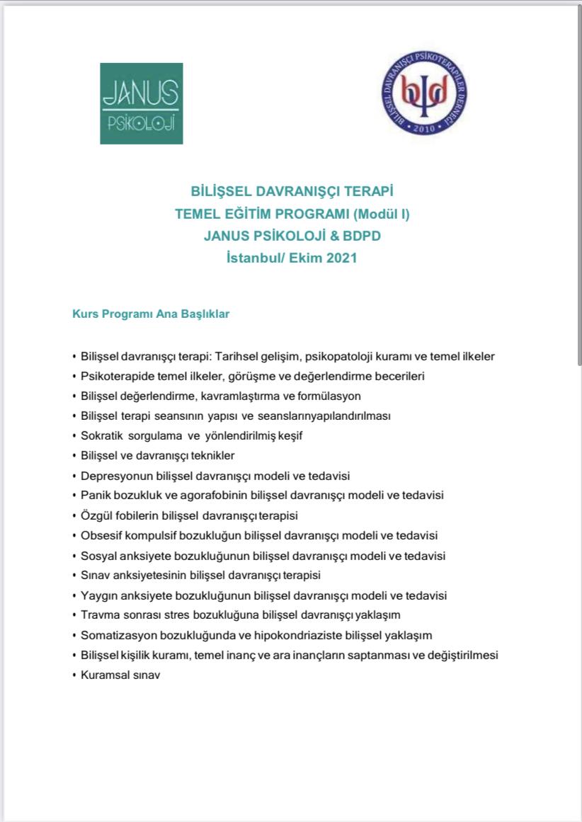 Bdt Temel Eğitim Programı ONLİNE