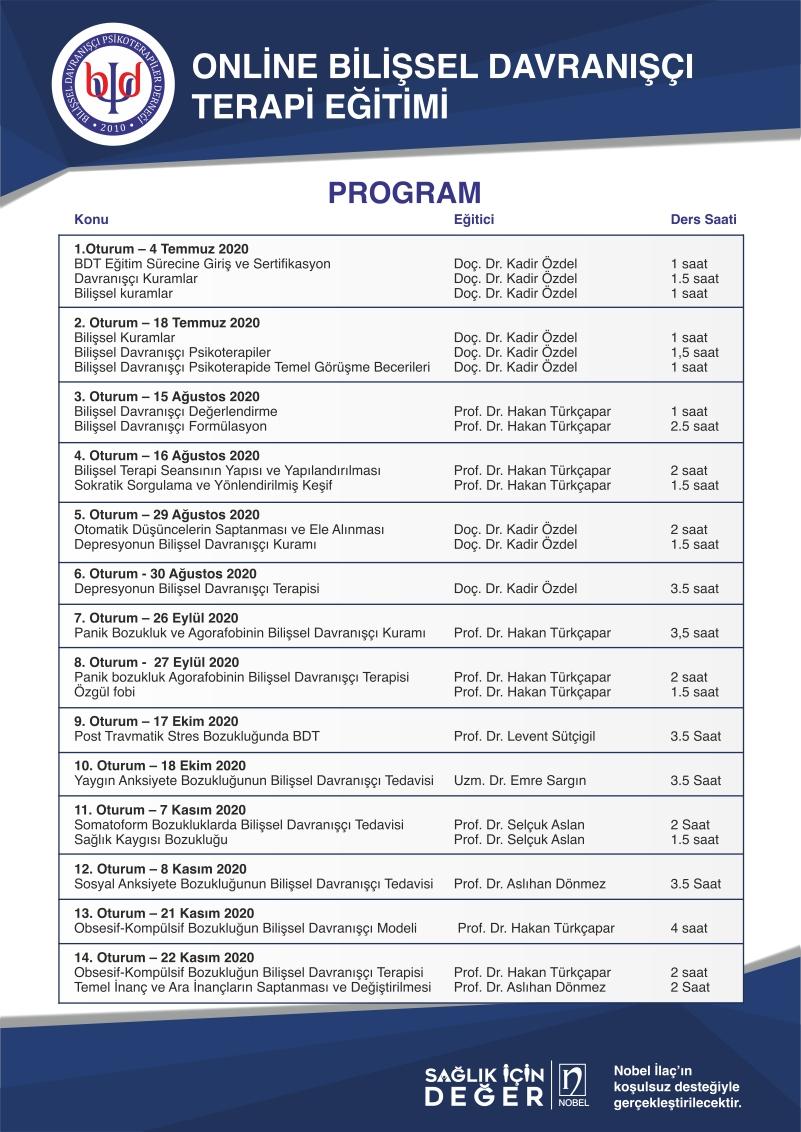 Bilişsel Davranışçı Terapi - Online Program: 13 ve 14'üncü Oturumlar