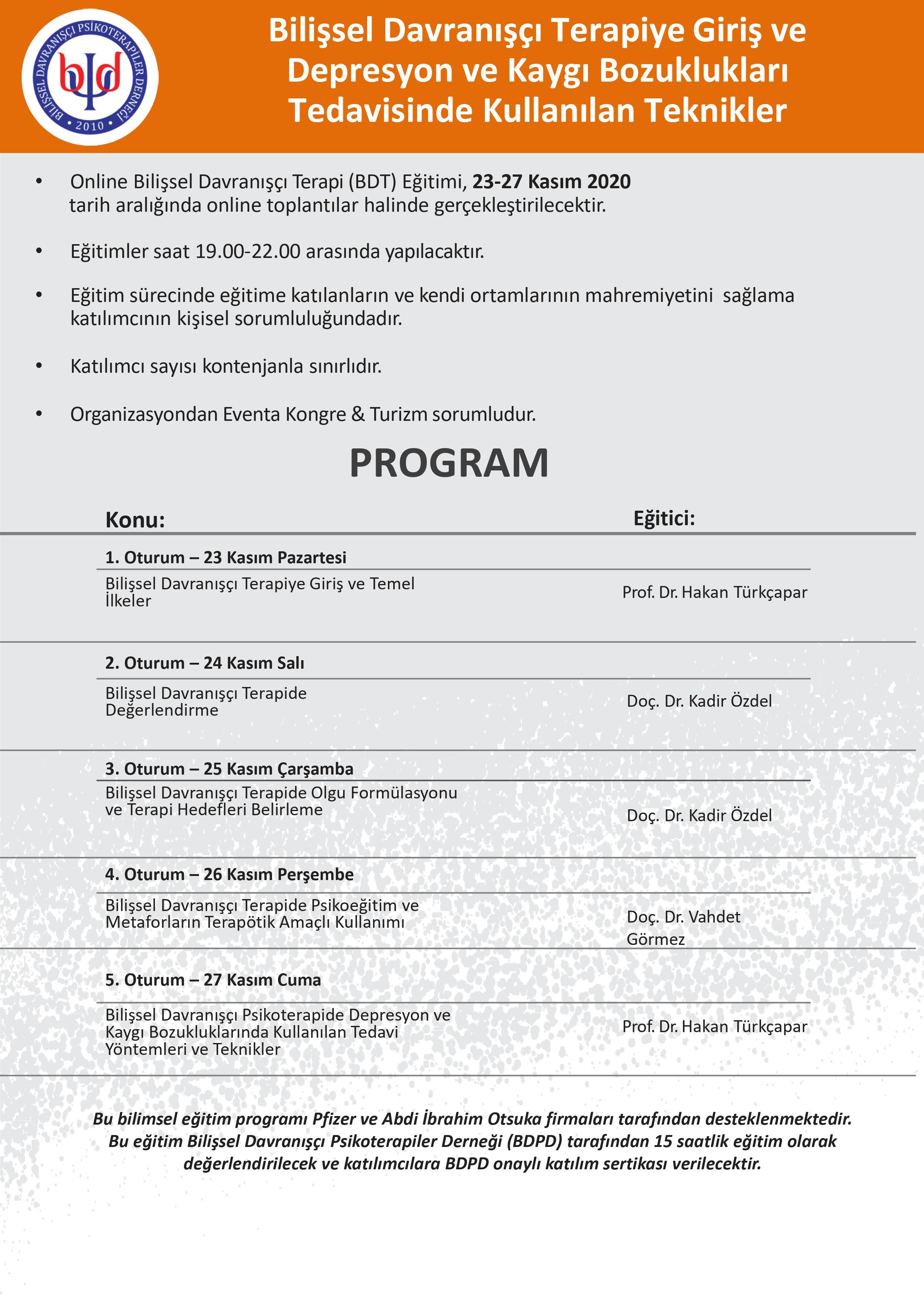 BDT'ye Giriş Programı /2020-Kasım